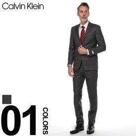 カルバンクライン スーツ CK Calvin Klein シングル 2ツ釦 2B SLIM FIT スリムフィット ブランド メンズ ビジネス ウール ストライプ CK5KX0175
