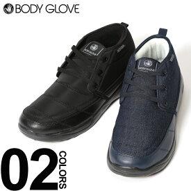 大きいサイズ メンズ BODY GLOVE (ボディグローブ) 防水加工 キルト 裏フリース シューズ ファッション カジュアル シューズ 靴 アウトドア 防滑 暖かい BTBG094
