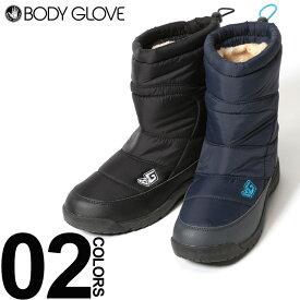 大きいサイズ メンズ BODY GLOVE (ボディグローブ) 防水 キルト ドローコード ウインターブーツ ファッション カジュアル シューズ ブーツ 雪 アウトドア スポーツ BTBG196