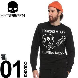 ハイドロゲン HYDROGEN スウェット トレーナー スカル ブランド メンズ トップス プリント LAURINA PAPERINA HYLP0140