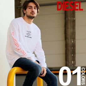 ディーゼル DIESEL ロンT Tシャツ 長袖 袖プリント バックプリント カットソー ブランド メンズ トップス DSSNRD091A