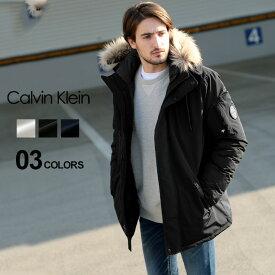カルバン クライン Calvin Klein 中綿 ジャケット ファー フード フルジップ ブルゾン ブランド メンズ アウター パーカー ミドル丈 CKCM826313