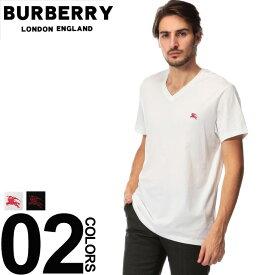 バーバリー BURBERRY Tシャツ 半袖 ロゴ 刺繍 Vネック ブランド メンズ トップス コットン 胸ロゴ BB800383