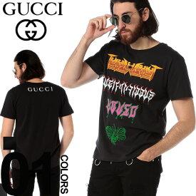 グッチ GUCCI Tシャツ 半袖 プリント メタル クルーネック バックプリント ブランド メンズ トップス GC493117XJAKE