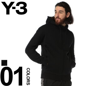 Y-3 ワイスリー スウェット パーカー 袖ロゴプリント ダブルジップ NEW CLASSIC HOODIE ブランド メンズ トップス スエット Yohji Yamamoto Y3DY7254
