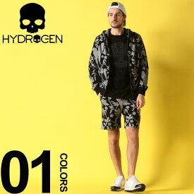 ハイドロゲン HYDROGEN セットアップ スウェット 総柄 パーカー ショートパンツ ブランド メンズ 上下セット ボタニカル スエット HY240600SETUP