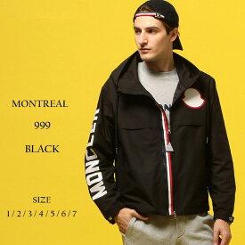 モンクレール MONCLER ナイロンジャケット 袖ロゴ ナイロンパーカー トリコロール フルジップ MONTREAL モンレアル ブランド メンズ アウター フード ロゴ プリント ワッペン MCMONTREAL9