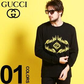 グッチ GUCCI Tシャツ 長袖 ロンT メタル プリント クルーネック ブランド メンズ トップス カットソー プリント GG GC476330XJAI7 SALE_1_b