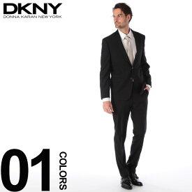DKNY ダナキャラン スーツ ストライプ シングル 2ツ釦 2B ウール DARKGRAY ブランド メンズ ビジネス ノータック DK12Y1390