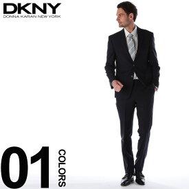 DKNY ダナキャラン ニューヨーク スーツ ピン ストライプ シングル 2ツ釦 2B ウール NAVY ブランド メンズ ビジネス ノータック DK12Y1409