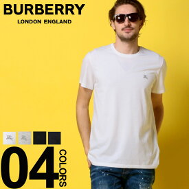 バーバリー BURBERRY Tシャツ 半袖 ロゴ 刺繍 クルーネック ブランド メンズ トップス コットン エクストリアンナイト BB40618