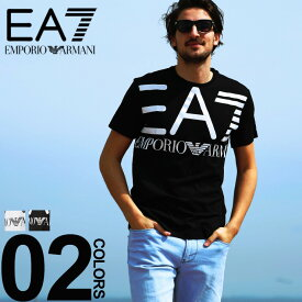 エンポリオ アルマーニ EA7 EMPORIO ARMANI Tシャツ 半袖 ロゴ プリント クルーネック ブランド メンズ トップス EA3GPT06PJ02Z