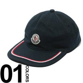 モンクレール MONCLER キャップ コットン トリコロール アジャスター ロゴ ワッペン ブランド メンズ 帽子 MC0098155V0001