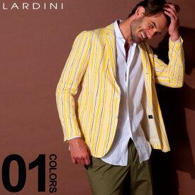 ラルディーニ LARDINI ジャケット コットン ブートニエール ストライプ シングル 段返り3ツ釦 3B ブランド メンズ テーラード サマージャケット LDCM21RS52565