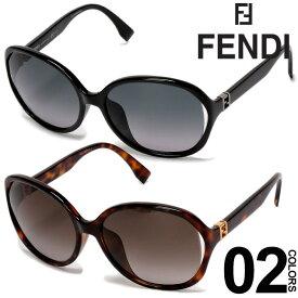 フェンディ FENDI サングラス ロゴ ゴールドアクセント オーバル ブランド レディース アイウェア FD0032F SALE_6_c