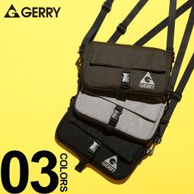 大きいサイズ メンズ GERRY (ジェリー) ロゴプリント マチ調整可能 ミニ ショルダーバッグ カジュアル ファッション 小物 コンパクト アウトドア シンプル BTR127