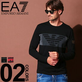 エンポリオ アルマーニ EA7 EMPORIO ARMANI Tシャツ 長袖 フロントマーク クルーネック 長袖 Tシャツ ブランド メンズ トップス シャツ ロンT プリント コットン EA6GPT59PJQ9Z