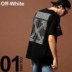 オフホワイト OFF-WHITE Tシャツ 半袖 バックプリント クルーネック INDUSTRIAL ブランド メンズ トップス OWAA38E19185004