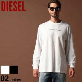 ディーゼル DIESEL Tシャツ 長袖 ロゴ 刺繍 クルーネック ロンT ブランド メンズ トップス カットソー DSSY8CPATI