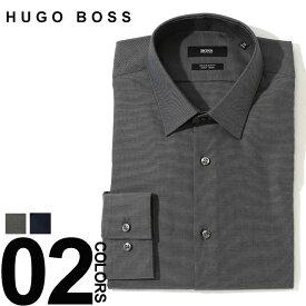ヒューゴ ボス HUGO BOSS ワイシャツ 長袖 レギュラーカラー ドレスシャツ レギュラーフィット ブランド メンズ Yシャツ イージーアイロン HBELIOT10219221 SALE_1_c