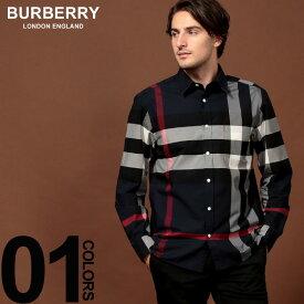 バーバリー BURBERRY シャツ 長袖 ストレッチ コットン メガチェック ブランド メンズ トップス シャツ バーバリーチェック BB8004829F9