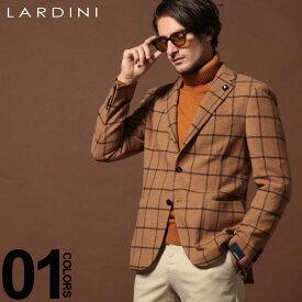 ラルディーニ LARDINI ジャケット ウール ウィンドペン 段返り3ツ釦 3B シングルジャケット ブランド キャメル メンズ アウター テーラード チェック LD902AEA53540