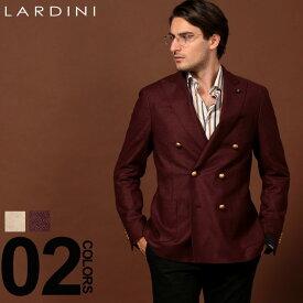 ラルディーニ LARDINI ジャケット ウール ダブル ブレスト 6B ブランド メンズ アウター メタル釦 ブレザー LD660AERRP53598