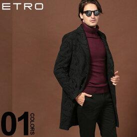 エトロ ETRO コート ペイズリー カシミヤ混 チェスターコート ブランド メンズ アウター ウール ET1185A0257