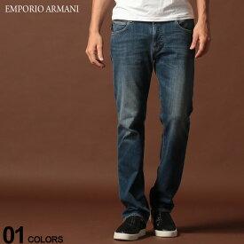 エンポリオ アルマーニ EMPORIO ARMANI デニムパンツ ウォッシュ ジップフライ 5P ジーンズ REGULAR ブランド メンズ ジーパン レギュラー ストレート EA6G1J451D0NZ