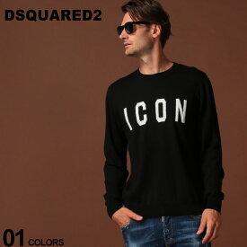 ディースクエアード DSQUARED2 ニットソー ニット セーター ウール ICON ロゴ クルーネック ブランド メンズ トップス D2HA0995S16813