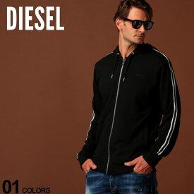 ディーゼル DIESEL パーカー スウェット ロゴ ライン フルジップ ブランド メンズ トップス フード スエット DSSE8MHASE