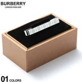 バーバリー BURBERRY ネクタイピン パラジウムプレート チェックエングレイブ タイバー SILVER ブランド メンズ ビジネス アクセサリー タイピン BB8015277F9