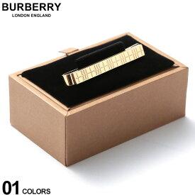 バーバリー BURBERRY ネクタイピン パラジウムプレート チェックエングレイブ タイバー GOLD ブランド メンズ ビジネス アクセサリー タイピン BB8015276F9