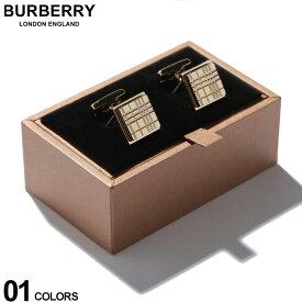 バーバリー BURBERRY カフス パラジウムプレート チェックエングレイブ スクエア カフリンクス GOLD ブランド メンズ ビジネス アクセサリー カフスボタン BB8015272F9