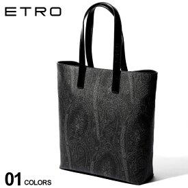エトロ ETRO トートバッグ コーティング レザー ペイズリー ブランド メンズ バッグ 鞄 トート 総柄 牛革 ET0H7458007