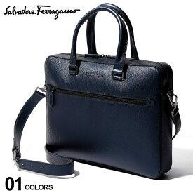 サルバトーレフェラガモ Salvatore Ferragamo ブリーフケース 2WAY 型押し カーフレザー トロリーストラップ ブリーフバッグ ブランド メンズ ビジネス 鞄 バッグ FG704771F9