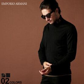 エンポリオ アルマーニ EMPORIO ARMANI タートルネック ニット セーター ウール ロゴ ブランド メンズ トップス ハイネック EA6G1MY21MTPZ