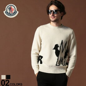モンクレール MONCLER ニット セーター カシミヤ混 ウール ロゴ クルーネック ブランド メンズ トップス カシミア MC9041300A9040