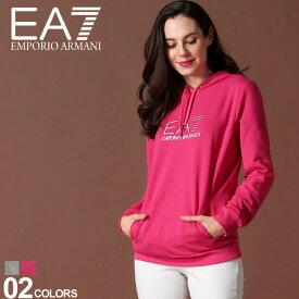 エンポリオ アルマーニ EA7 レディース EMPORIO ARMANI パーカー スウェット ロゴ プリント ラインストーン ブランド トップス EAL6GTM03TJ27Z