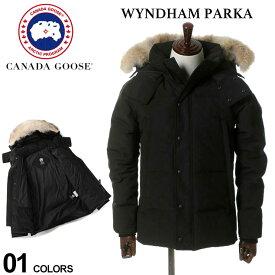 カナダグース ダウン メンズ CANADA GOOSE ダウンジャケット ファー フード ブルゾン WYNDHAM PARKA ウィンダムパーカ ブランド アウター CG3808M