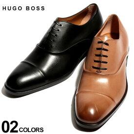 ヒューゴ ボス HUGO BOSS シューズ レザー ストレートチップ 内羽根 レースアップ ホールカット ブランド メンズ 革靴 本革 HB10201737ST SALE_4_b