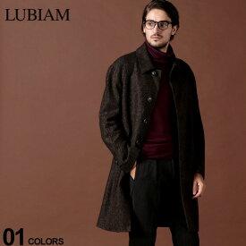 ルビアム LUBIAM コート カシミヤ混 ウール へリンボーン ステンカラー ブランド メンズ アウター ロングコート LBM741097016