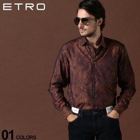 エトロ ETRO シャツ 長袖 コットン 総柄 ソラーロ ブランド メンズ トップス 柄シャツ 光沢 ET1290831340