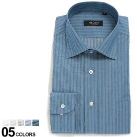 GROSSO COLLECTION (グロッソコレクション) 形態安定 無地&柄物 長袖 ワイシャツ SLIM BODYメンズ 紳士 男性 ビジネス Yシャツ シャツ オールシーズン コットン 細身 シンプル EAGS1213R