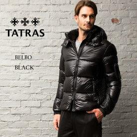 タトラス ダウン メンズ TATRAS ダウンジャケット ナイロン パーカー フード BELBO ベルボ ブランド アウター ブルゾン 黒 TRMTA20A4562