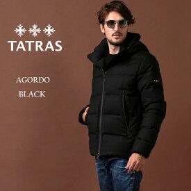 タトラス ダウン メンズ TATRAS ダウンジャケット ウール パーカー フード AGORDO アゴルド ブランド アウター 黒 TRMTK20A4148