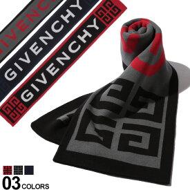 ジバンシー GIVENCHY ジバンシィ マフラー コットンニット ロゴ ブランド メンズ レディース GV2516U1600