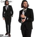 カルバンクライン スーツ CK Calvin Klein ストレッチ ウール シングル 2ツ釦 2B ノータック ブランド メンズ CK5FYO110F9