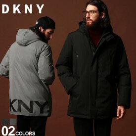 DKNY ダナキャランニューヨーク 中綿ジャケット ロゴ パーカー フード ブルゾン ブランド メンズ アウター ナイロン DKDX9MP195