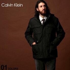 カルバン クライン Calvin Klein CK 中綿ジャケット パーカー フード ハーフ丈 コート ブランド メンズ アウター ブルゾン ビジネス CKCM901007
